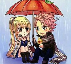 Natsu and Lucy Fairy Tail.