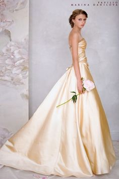 Pale buttery yellow gown