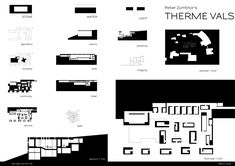 therme vals chair - Google Search Peter Zumthor, Plans Architecture, Architecture Drawings, Thermal Vals, Water Lighting, Le Corbusier, Floor Plans, Sketches, How To Plan