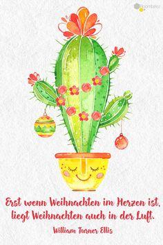 #weihnachten #grüße #sprüche #Weihnachtskarten   Weihnachten im Kaktus-Trend ✵ Diese und weitere schöne Grußkarten findet Ihr auf ROOMBEEZ!