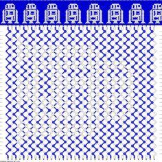 R2D2 Friendship Bracelet Pattern