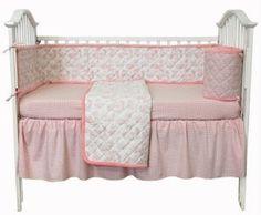 Amazon.com: Tadpoles Toile 4 Piece Crib Set in Pink: Baby