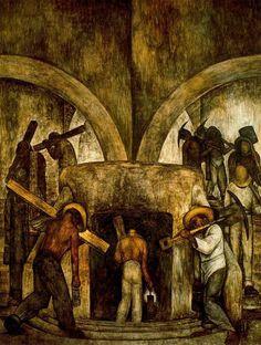 Diego Rivera — Entry into the Mine, 1923, Diego RiveraSize:...