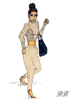 Vanessa Hudgens Inspired Fashion Illustration by Daria Beuttenmüller