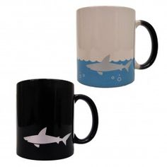 Want to go for a swim? Just add coffee/hot tea to this heat sensitive mug.