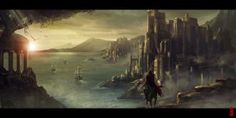 Castle speedpaint by Byzwa-Dher