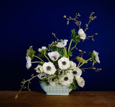 Using Scottish grown Anemones and garden finds.