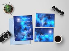 Starry Night Wedding Invite Blue Night Wedding Invitation Set Galaxy  Wedding Invitation Under the Stars Wedding e16819fc507f