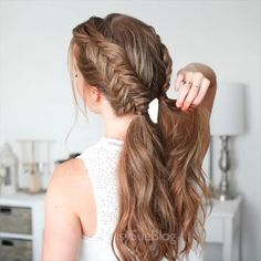 Braided Updo - 20 Easy Party Hairstyles for Long Hair - The Trending Hairstyle Easy Hairstyles For Long Hair, Braids For Long Hair, Cool Hairstyles, Hairstyle Ideas, Wedding Hairstyles, Blonde Hairstyles, How To Braid Hair, Long Hair Braided Hairstyles, Nurse Hairstyles