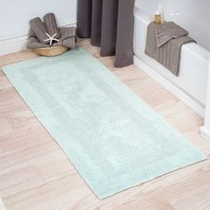 Green 22 x 60 in Washable Bathroom Shower Runner Bath Mat Accent Rug Carpet Kit