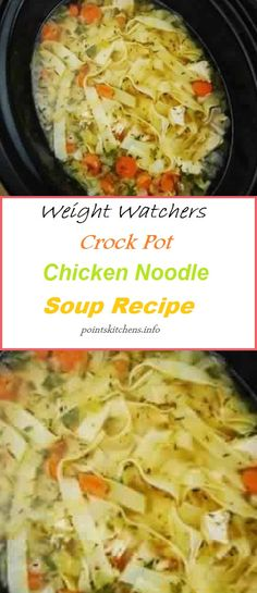 Ideas Healthy Recipes For Weight Loss Clean Eating Crock Pot Crockpot Chicken Healthy, Chicken Soup Recipes, Crockpot Recipes, Cooking Recipes, Healthy Recipes, Recipe Chicken, Weight Watchers Chicken Noodle Soup Recipe, Detox Recipes, Plats Weight Watchers