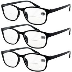 8a6f496f9b13 Products CheckerBifocal Reading Glasses for Women and Men · Lasree 3 PRS  +2.50 Classic Style Bifocals Reading Glasses Mens Womens Spectacles Frames  Readers ...