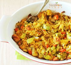 Yield: 6-8 servings Prepared from scratch, this stuffing is delicious and bursting with fresh ingredients. A perfect side dish that will compliment your festive meal. You can make the cornbread a day ahead. Ingredients: 6 cups cornbread, cut in bite sized pieces 1 tablespoon olive oil or 1/4 cup water 1 medium onion, finely chopped …