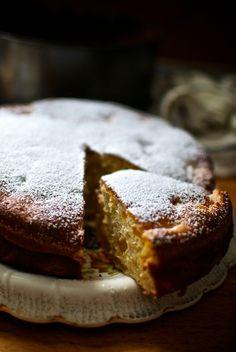 tarta de yogur y melocotones