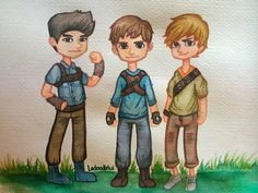 newt tmr | Tumblr Maze Runner The Scorch, The Scorch Trials, Tumblr, Fan Art, Watercolor, Drawings, Ivy, Fictional Characters, The Maze Runner