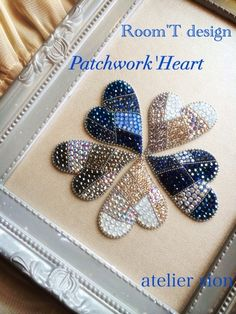 {37C90438-62BE-455F-B4E9-A64E14A92B93:01} Bead Embroidery Patterns, Hand Work Embroidery, Embroidery Needles, Beaded Embroidery, Beading Needles, Brooches Handmade, Beading Projects, Bead Crafts, Jewelry Crafts