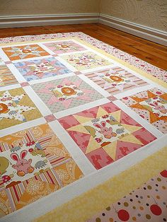 Fussy Cut star quilt using Anna Griffin's 'Mackenzie' fabrics | by Bloom and Blossom