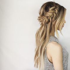 """Although fishtail braids might not seem like the most innovative of braids nowadays, we can't deny they're equally as beautiful if not more so than traditional three-strand braids. The fishtail braid, or """"Grecian"""" braid as it was known during the 1800's—yes, the 1800's, is an intertwined two-strand braid that closely resembles a French braid. Fishtail braids peaked in popularity during the 80's but have made a strong comeback in recent years. Today we'll take a look at gallery of only the…"""