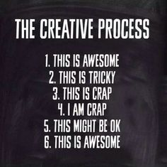 took the words right out of my head & mouth! The Creative Process - Embracing Change.although times it stops at I'm crap haha Great Quotes, Me Quotes, Inspirational Quotes, Music Quotes, Wisdom Quotes, Funny Quotes, The Words, Artist Quotes, Creativity Quotes