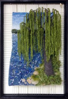 Dimensional Weaving - Martina Celerin fiber art: Put head down, weave, feed family, exercise;Martina Celerin I am a fiber artist. I create 3 dimensional weavings using reclaimed an.I was just thinking last night tht I wanted to do a weaving ITU a wee