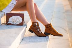 Flat Shoes, Oxford Shoes, Street Style Shoes, Brown Ankle Boots, Latest Street Fashion, Online Fashion Stores, Spikes, Miu Miu, Cowboy Boots