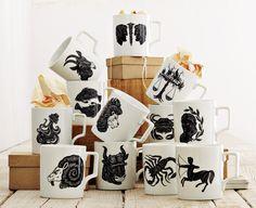 west elm zodiac mugs