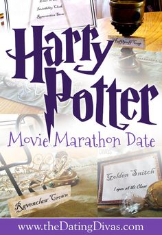 Potter Marathon Date Night - From So many fun ideas for a Harry Potter movie night. Especially love the clever decorations. So many fun ideas for a Harry Potter movie night. Especially love the clever decorations. Harry Potter Marathon, Just In Case, Just For You, I Carry Your Heart, My Sun And Stars, Harry Potter Love, Dating Divas, Mischief Managed, My Guy