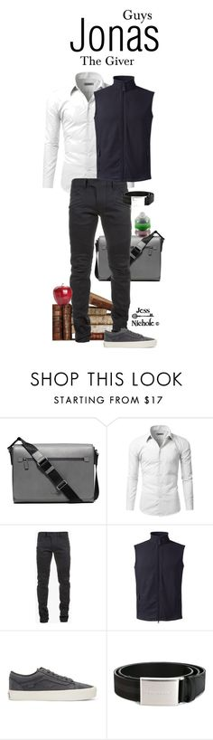 """The Giver: Guys: Jonas"" by jess-nichole ❤ liked on Polyvore featuring Michael Kors, Doublju, Balmain, Lands' End, Vans, Burberry, men's fashion and menswear"