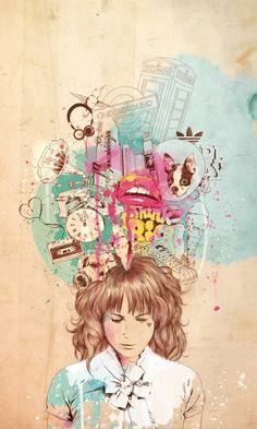 Thinking  by Ariana Perez