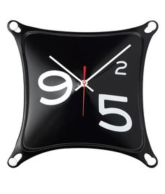 STRETCH CLOCK | Rubber Wall Clock, Black | $19.99 UncommonGoods