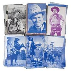 "Arcade machine cowboy film star cards (180+), many different cowboys, all Exc unused cond, 5.5"" x 3."
