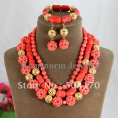 african bead Jewelry | African Bead Jewelry Natural coral beads necklace