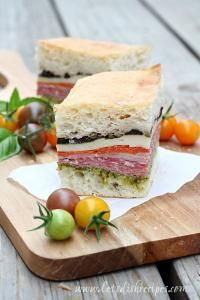 Pressed Italian Sandwiches on MyRecipeMagic.com. Perfect for a picnic or just a delicious sandwich for lunch..loaded with italian meats and cheese!