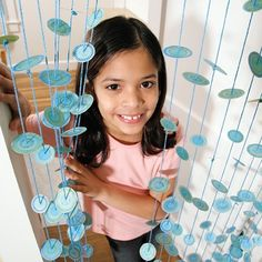 Let's have fun with your child by decorating this creative dangly doorway.