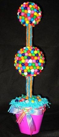 Gum/candy centerpiece
