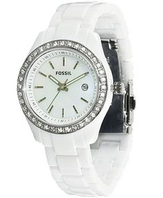 My white Fossil watch (: