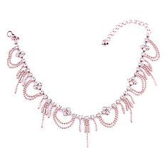 Charming Alloy with Tassels Crystal Anklet - USD $ 4.23