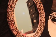 Leopard Print Mirror by PaperRockMirror on Etsy, $14.00