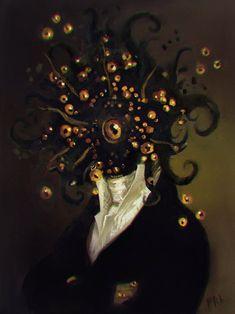Welcome to the world of fantasy. Arte Horror, Horror Art, Elder Scrolls, Character Art, Character Design, Lovecraftian Horror, Eldritch Horror, Arte Obscura, Creepy Art