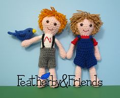 Nate & Sam - Boy Dolls - Crochet Pattern by Alicia Moore of Featherby & Friends