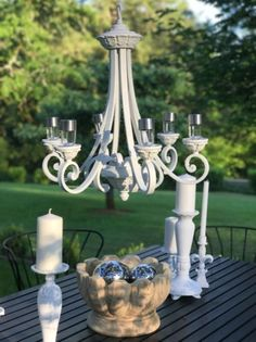 Best garden decorate with some diy hanging lights - Solar Light Chandelier, Hanging Chandelier, Outdoor Chandelier, Vintage Chandelier, Diy Hanging, Hanging Lights, Outdoor Lighting, Chandeliers, Diy Solar