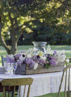 Lilac centerpieces - Karin Lidbeck