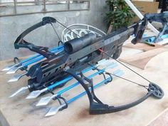 crossbow diy,crossbow accessories,crossbow arrows,survival tips,survival gear Zombie Weapons, Weapons Guns, Guns And Ammo, Armas Ninja, Fantasy Weapons, Knives And Swords, Rifles, Tactical Gear, Tactical Swords