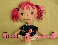 Spookie Pookie Raggedy Cloth Art Doll By Greenie Marie of www.greeniemarie.com by greeniemarie, via Flickr
