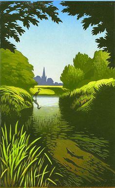 Chris Wormell Illustrator: #Linocuts #illustration #Landscape