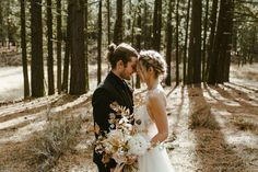 Modern Forest Wedding portrait
