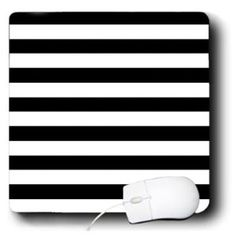 Amazon.com: Janna Salak Designs Prints and Patterns - Black and White Stripes - Mouse Pads: Electronics