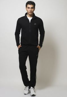 Tracksuits Black Full Tracksuit, Black And Grey, Normcore, Spring Summer, Suits, My Style, Fitness, Cotton, Jackets