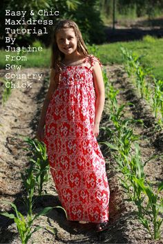 Sew Country Chick: fashion sewing and DIY: Easy & Chic Maxidress Tutorial