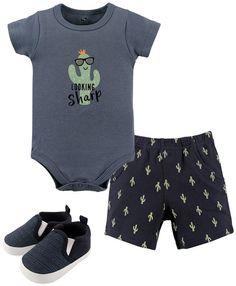 First Impressions Baby Boys Denim Shorts Dark Sprout Size 18 Months